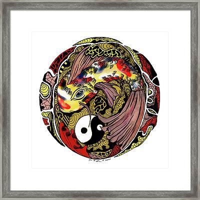 Koi Of Balance Framed Print by Kenal Louis