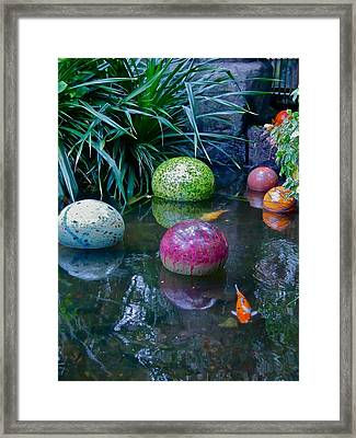 Koi Pond Fantasy Framed Print by Richard Mansfield