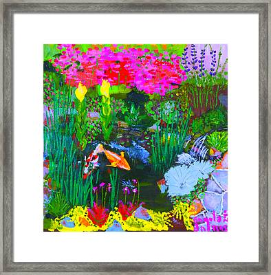 Koi Pond I Framed Print