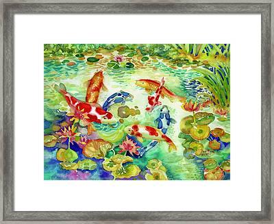 Koi Pond I Framed Print
