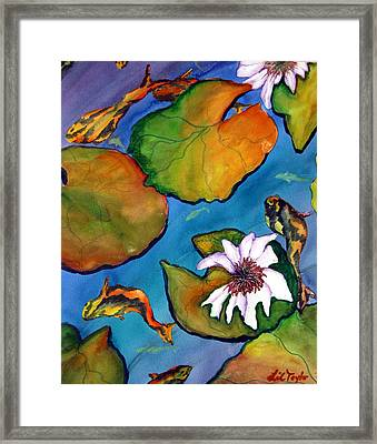 Framed Print featuring the painting Koi Pond II Sold by Lil Taylor