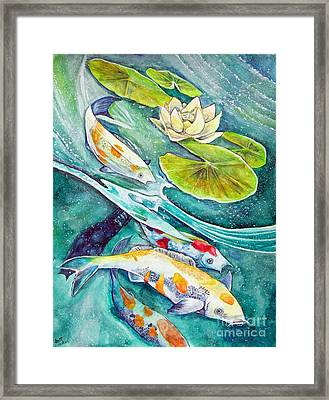 Koi Pond Framed Print