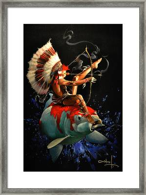 Koi Warrior Framed Print by Moxxy Simmons