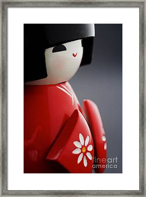 Kokeshi Doll Framed Print by Larry Dale Gordon - Printscapes