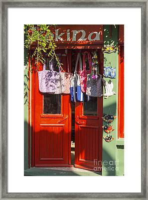 Kokina Red Door Framed Print