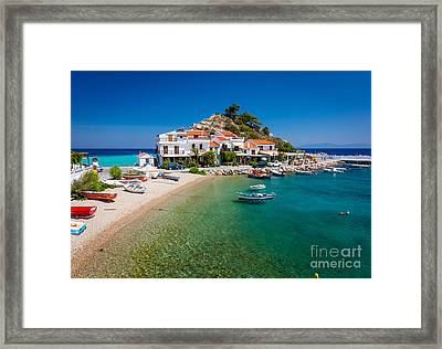 Kokkari Beach Framed Print by Inge Johnsson