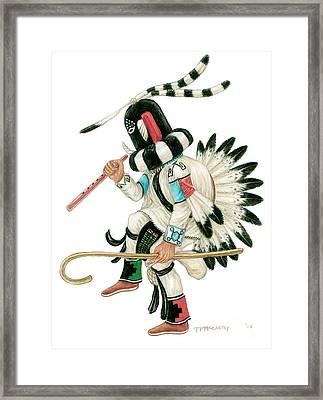 Kokopeli Framed Print by Tim McCarthy