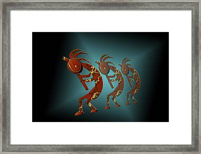 Kokopelli Framed Print by Carol and Mike Werner