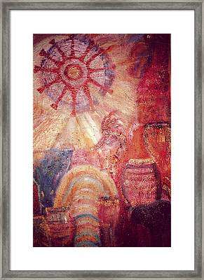 Kokopelli Extravaganza Framed Print by Anne-Elizabeth Whiteway