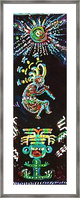 Kokopelli Magic I Framed Print by Anne-Elizabeth Whiteway