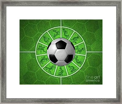 Kokopelli Soccer Framed Print by Chris Rhynas