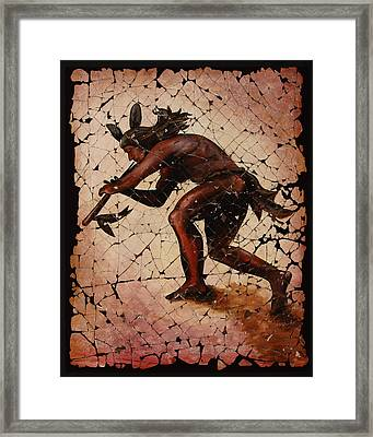 Kokopelli The Flute Player  Framed Print by Art OLena