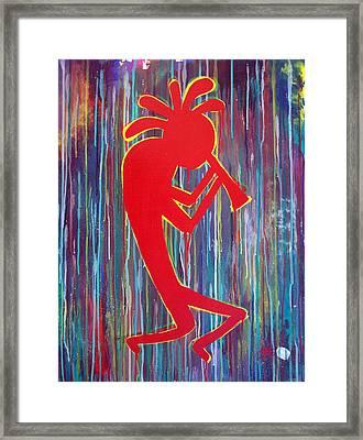 Kokopelli  Framed Print by Tommy Reynolds