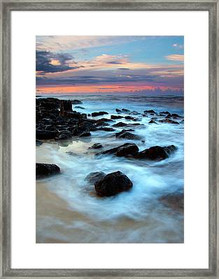 Koloa Dawn Framed Print by Mike  Dawson