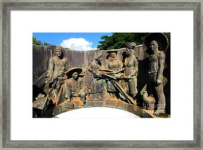 Koloa Sugar Industry Monument 1 Framed Print by Randall Weidner