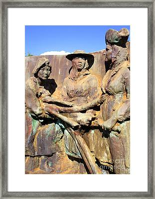 Koloa Sugar Industry Monument 4 Framed Print by Randall Weidner