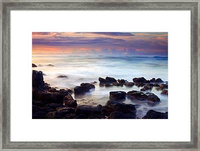 Koloa Sunrise Framed Print by Mike  Dawson