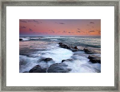 Koloa Sunset Framed Print by Mike  Dawson