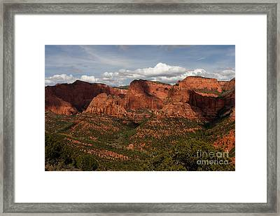 Kolob Canyon Zion Np Framed Print by Scott Nelson