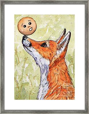 Kolobok And The Fox Framed Print by Svetlana Ledneva-Schukina
