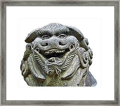Komainu04 Framed Print