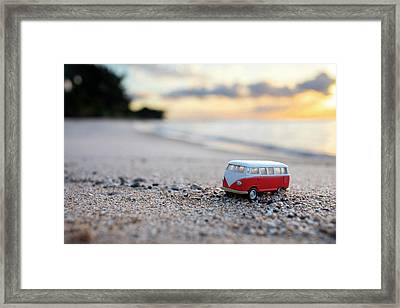 Kombi Beach Framed Print by Sean Davey