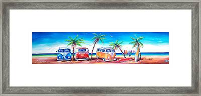 Kombi Club Framed Print by Deb Broughton