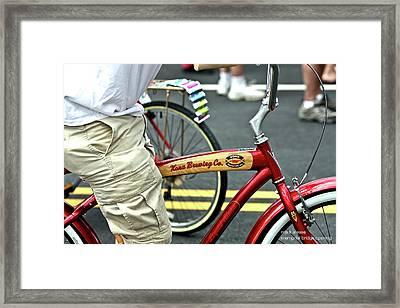 Kona Beer Bike Framed Print