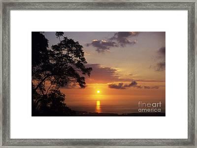 Kona Coast Sunset Framed Print