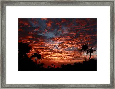 Kona Fire Sky Framed Print