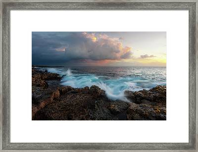 Framed Print featuring the photograph Kona Gold by Ryan Manuel