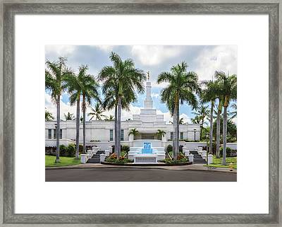 Kona Hawaii Temple-day Framed Print