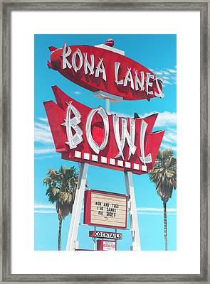 Kona Lanes Framed Print by Michael Ward