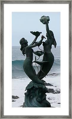 Kona Mermaids Frolic By The Sea Framed Print by Lori Seaman