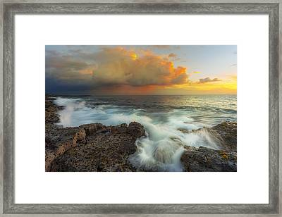 Framed Print featuring the photograph Kona Rush Hour by Ryan Manuel
