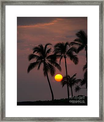 Kona Sunset #2 Framed Print