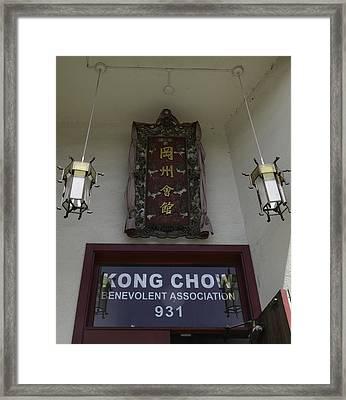 Kong Chow Benevolent Association Framed Print by Teresa Mucha