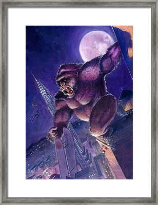 Kong Framed Print by Ken Meyer jr