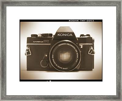 Konica Tc 35mm Camera Framed Print