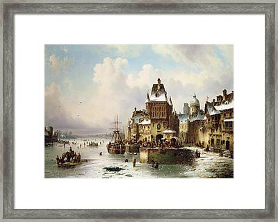 Konigsberg Framed Print by Ludwig Hermann