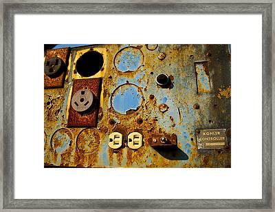 Kontroller Rust And Metal Series Framed Print by Mark Weaver
