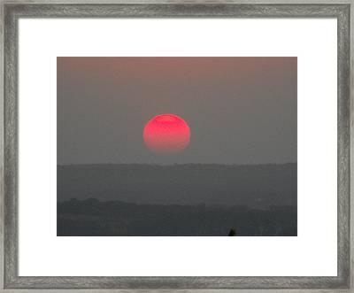 Konza Sunset Framed Print