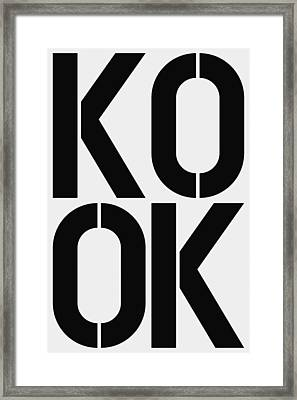Kook Framed Print by Three Dots