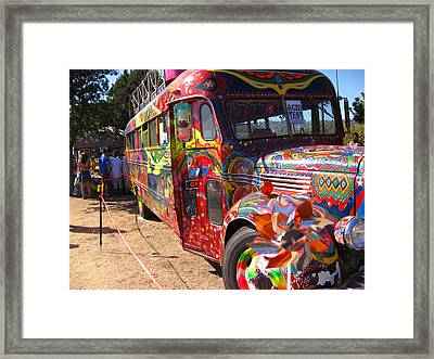 Kool Aid Acid Test Bus Framed Print