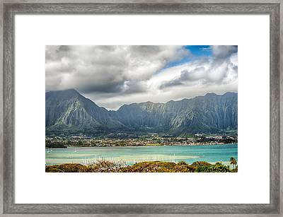 Ko'olau And H-3 In Color Framed Print