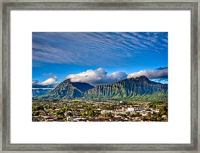 Framed Print featuring the photograph Koolau And Pali Lookout From Kanohe by Dan McManus