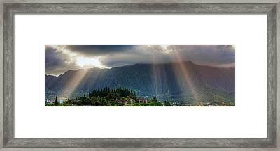 Koolau Sun Rays Framed Print by Dan McManus