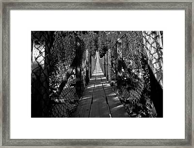 Kootenai Falls Bridge Framed Print