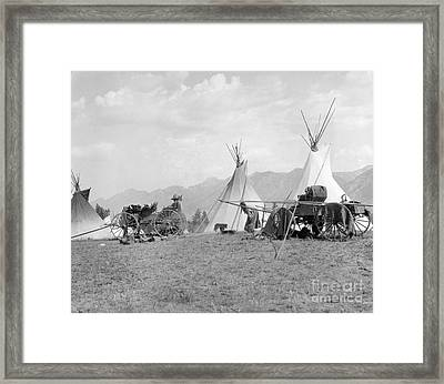 Kootenai First Nations Camp, C.1920-30s Framed Print by H. Armstrong Roberts/ClassicStock