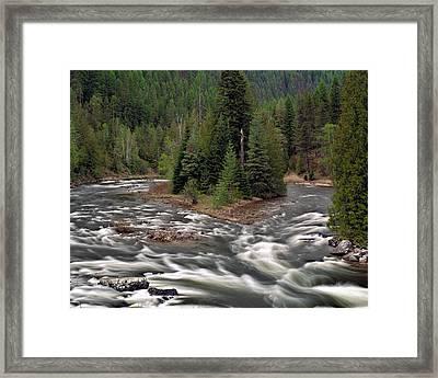 Kootenai River Framed Print by Leland D Howard